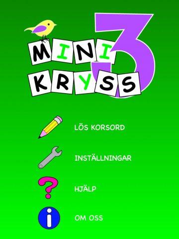Minikryss 3