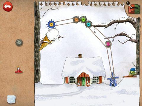 Se till att det snöar runt huset